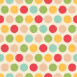 Seamless grunge circles polka dots background texture — Stock Vector