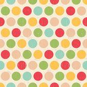 бесшовные grunge круги полька точек фоновой текстуры — Cтоковый вектор
