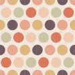 Seamless grunge circles polka dots background texture — Stock Vector #27688221