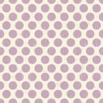 Seamless retro grunge polka dots background — Stock Vector