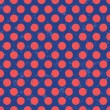 Retro polka dots seamless background texture — Vector de stock