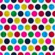 Seamless colorful polka background — 图库矢量图片