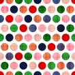 Seamless polka dots pattern — Stock vektor