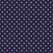Red polka dots seamless texture pattern — Vector de stock
