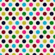 Seamless grunge circles polka dots background texture — Vector de stock