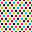 sömlös grunge cirklar polka dots bakgrundsstruktur — Stockvektor