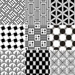 Monochrome seamless geometric pattern — Stock Vector #31187029