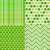 Seamless green texture pattern background — Vector de stock