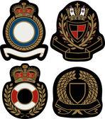 Royal emblem badge shield — Stock Vector