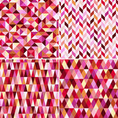 Seamless geometric pink pattern — Stock Vector