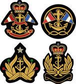 Nautical emblem badge shield — Stock Vector