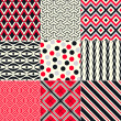 Seamless abstract geometric pattern  — Vettoriali Stock
