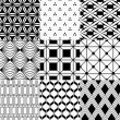 Seamless monochrome geometric pattern — Stock Vector
