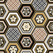 Seamless japanese interlocking pattern — Vettoriale Stock #35039699