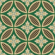 Seamless japanese interlocking circles pattern — Vettoriali Stock