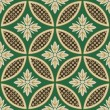 Seamless japanese interlocking circles pattern — Vettoriale Stock #35039725
