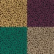Stock Vector: Seamless animal skin leopard pattern