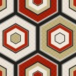 Seamless japanese hexagon crest pattern — Vettoriali Stock