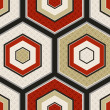 Seamless japanese hexagon crest pattern — Stock vektor