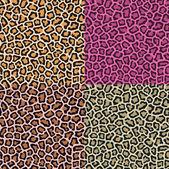 Seamless leopard cheetah animal skin pattern — Stock Vector
