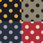 Seamless polka dots textured pattern — Stockvector