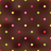 Seamless circles dots brown texture — Stok Vektör