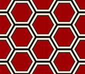 Seamless modern red hexagonal pattern — Stock Vector