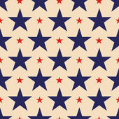 Seamless patriotic stars background — Stock Vector