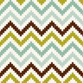 Seamless pixelated chevron pattern — Stock Vector