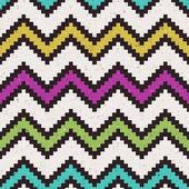 Seamless pixelated chevron pattern — Stock Vector