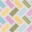 Stok Vektör: Seamless japanese traditional quilting pattern