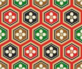 Sem costura padrão tradicional japonesa — Vetorial Stock