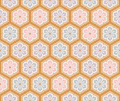 Seamless traditional japanese floral fabric background — Stock Vector