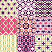 Seamless retro geometric wallpaper art — Wektor stockowy