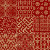 Seamless traditional auspicious chinese mesh pattern — Stock Vector