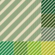 Seamless green stripes background set — Stock Vector