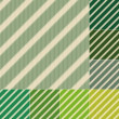 Seamless green stripes background set — Stock Vector #39385379