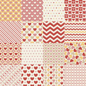 Seamless heart retro pattern — Stock Vector