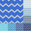 Stock Vector: Seamless blue colors chevron pattern set