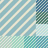 Seamless green blue diagonal stripes pattern — Stock Vector