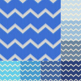 Seamless blue colors chevron pattern set — Stock Vector