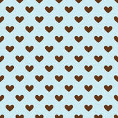 Seamless textured heart background — Stock Vector