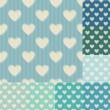 Seamless heart background pattern — Stock Vector