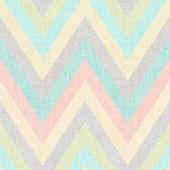 Seamless pastel multicolors grunge textured chevron pattern — Stock Vector