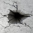 Hole In Cracked Ground — Stock Photo #12630221
