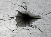 Hole In The Cracked Ground — Stock Photo