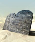 Ten Commandments Standing In The Desert — Stock Photo