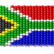 Stock Photo: South AfricZulu Bead Flag