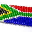 South African Zulu Bead Flag - Stock Photo