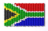 Bandera sudafricana zulú del grano — Foto de Stock